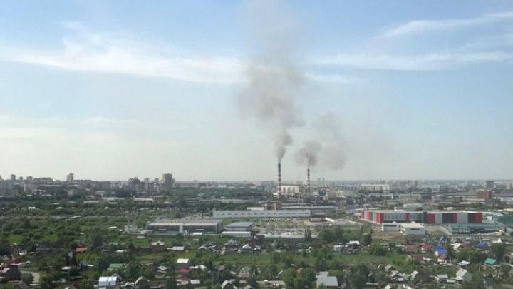 Из труб ТЭЦ-2 повалил чёрный дым — в СГК объяснили, с чем это связано