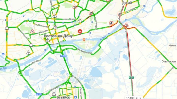 На трассе М-4 «Дон» образовалась пробка в 11 километров