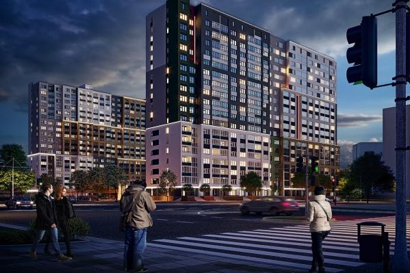 Жилой комплекс «Атамари» будет отличаться ярким дизайном фасада, большим двором и прекрасными видами на лес