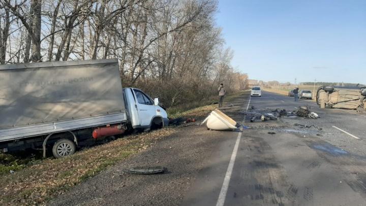 Три человека погибли в лобовом ДТП на трассе в Челябинской области