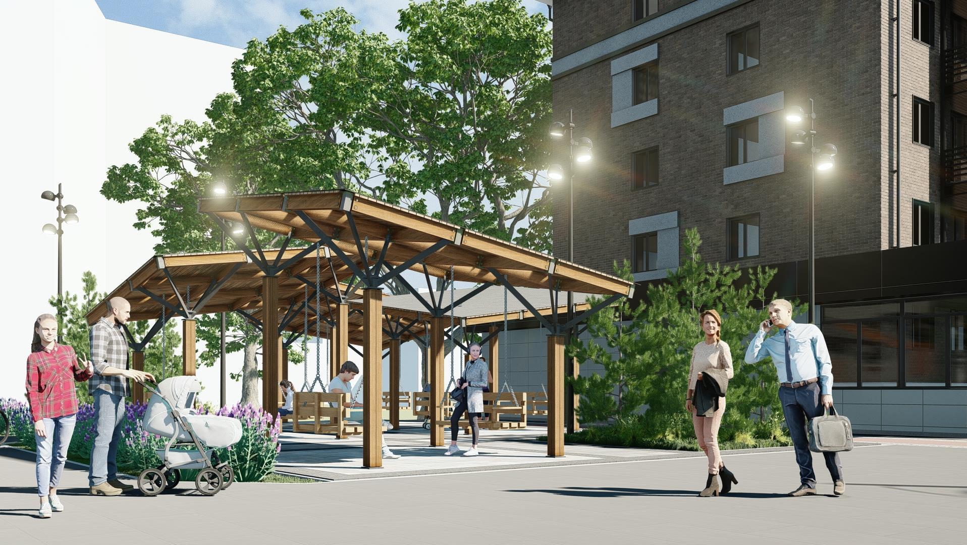 На перекрестке проспекта с улицей Космической архитекторы предложили создать полноценную общественную зону