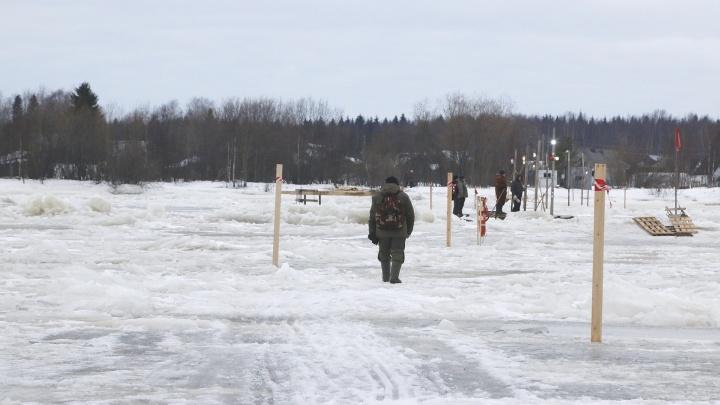 Пешеходную переправу между Реушеньгой и Экономией в Архангельске закрыли окончательно