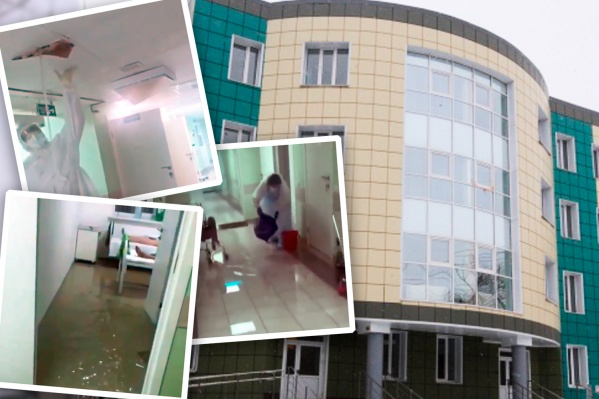 Помещения на четвёртом этаже в недавно отремонтированном здании на Комаровского затопило после сильного ливня