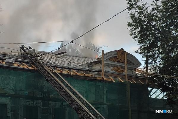 Пожар уничтожил старинное здание