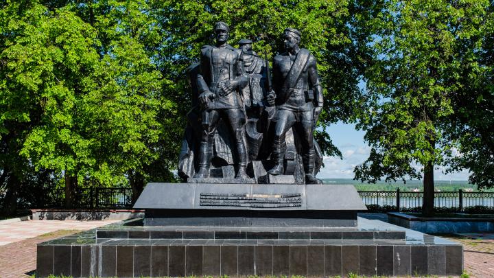 В Перми вандалы оторвали буквы с монумента Героям Гражданской войны