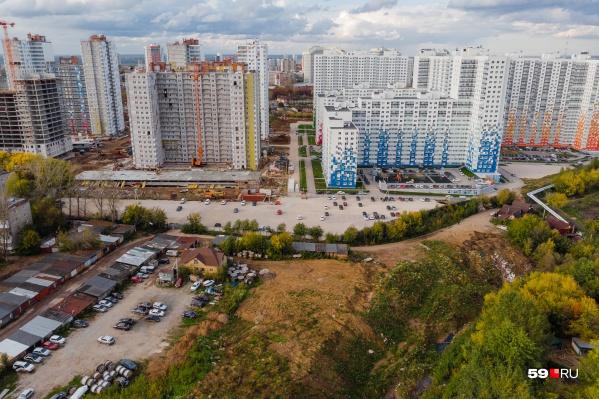 Максимальная высота домов — 25 этажей