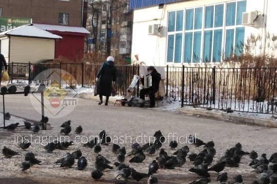 В Уфе дедушка играет на баяне в мороз, чтобы собрать деньги на игрушки для детей-сирот