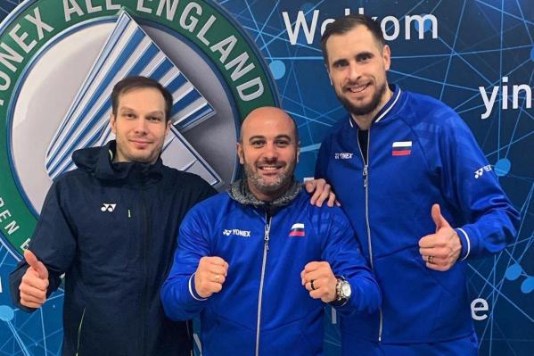 Владимир Иванов (справа) — многократный чемпион России по бадминтону и призёр чемпионатов Европы