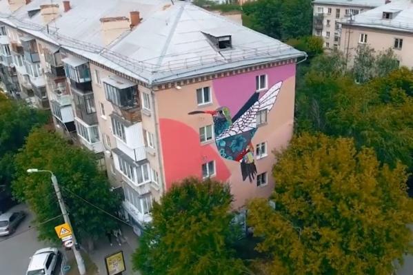 Фасады домов украсят большие граффити