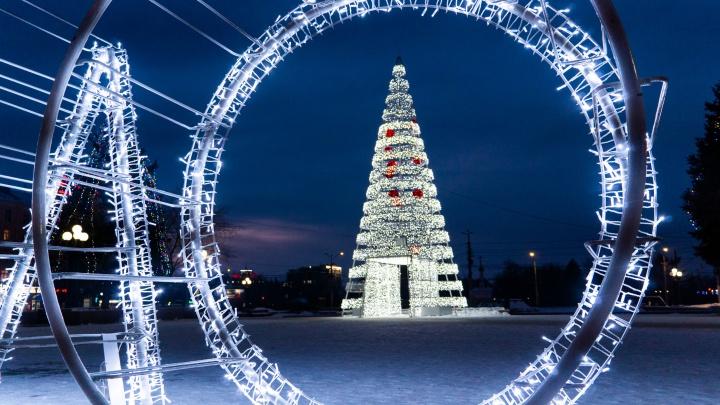 Холод, лед и пламень: прогулка по новогоднему Омску