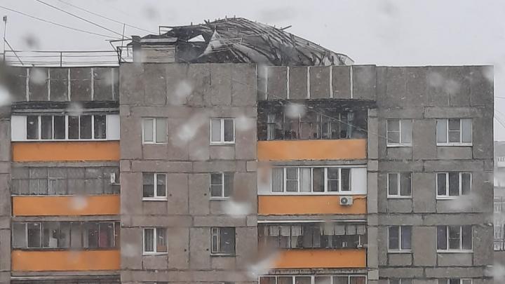 На Челябинск надвигается снежная буря, посрывавшая крыши с многоэтажек на юге региона