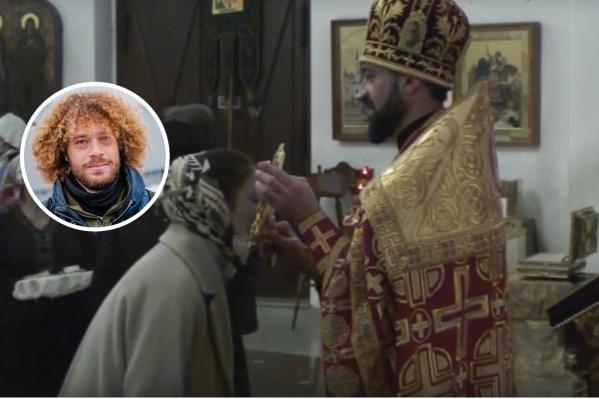 Прихожане без масок целовали крест из рук Литовки