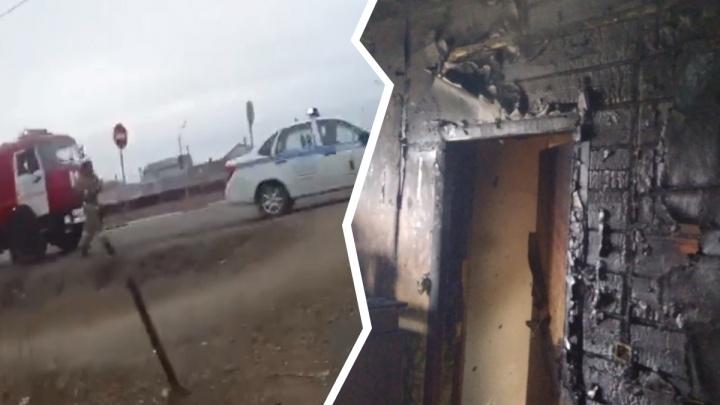 Гаишники кинулись в горящий дом, чтобы вытащить детей. Видео от первого лица