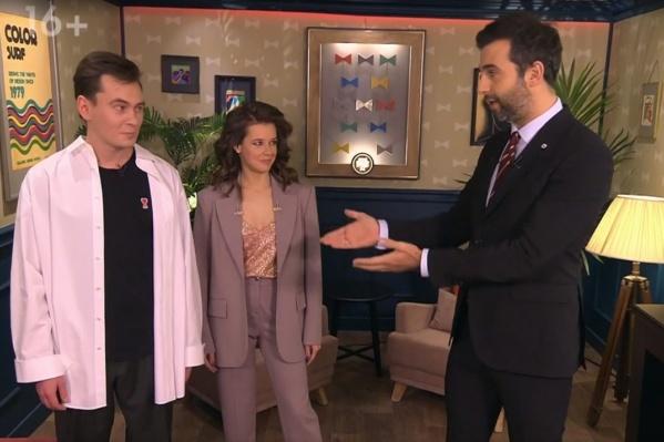 Катерина и Вадик случайно попали в один выпуск шоу. Артисты ранее учились в одной школе и университете