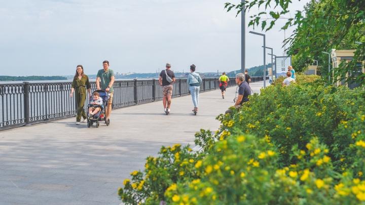 На пермской набережной запретили ездить на велосипедах, самокатах и роликах