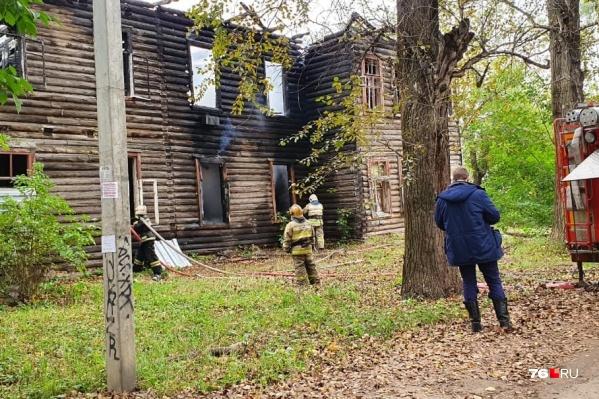 Пожар случился днем 13 сентября