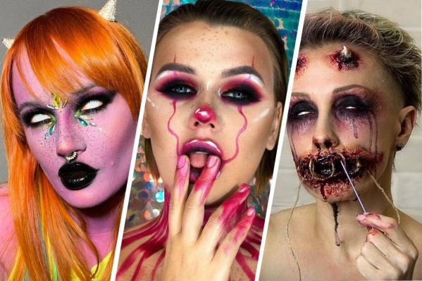 Красноярские визажисты показали «страшный» макияж на Хеллоуин