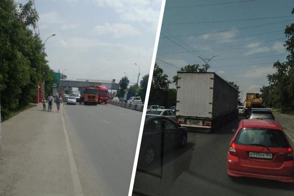 ДТП парализовало движение транспорта не только по основным магистралям, но и по другим улицам, которые водители используют для объезда