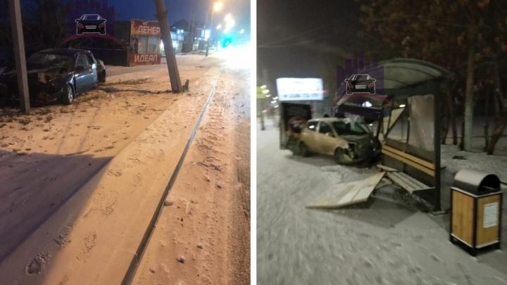 В Красноярске в двух утренних авариях водители сбежали с места ДТП