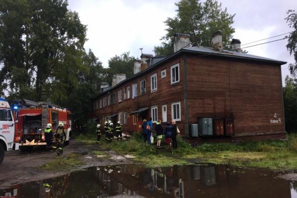 Первым загорелся дом на Осипенко, 4