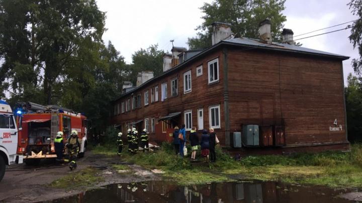 Почти одновременно в Архангельске загорелись четыре деревянных дома