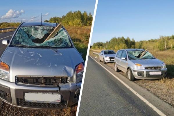 Водитель иномарки чудом не получил серьезных травм
