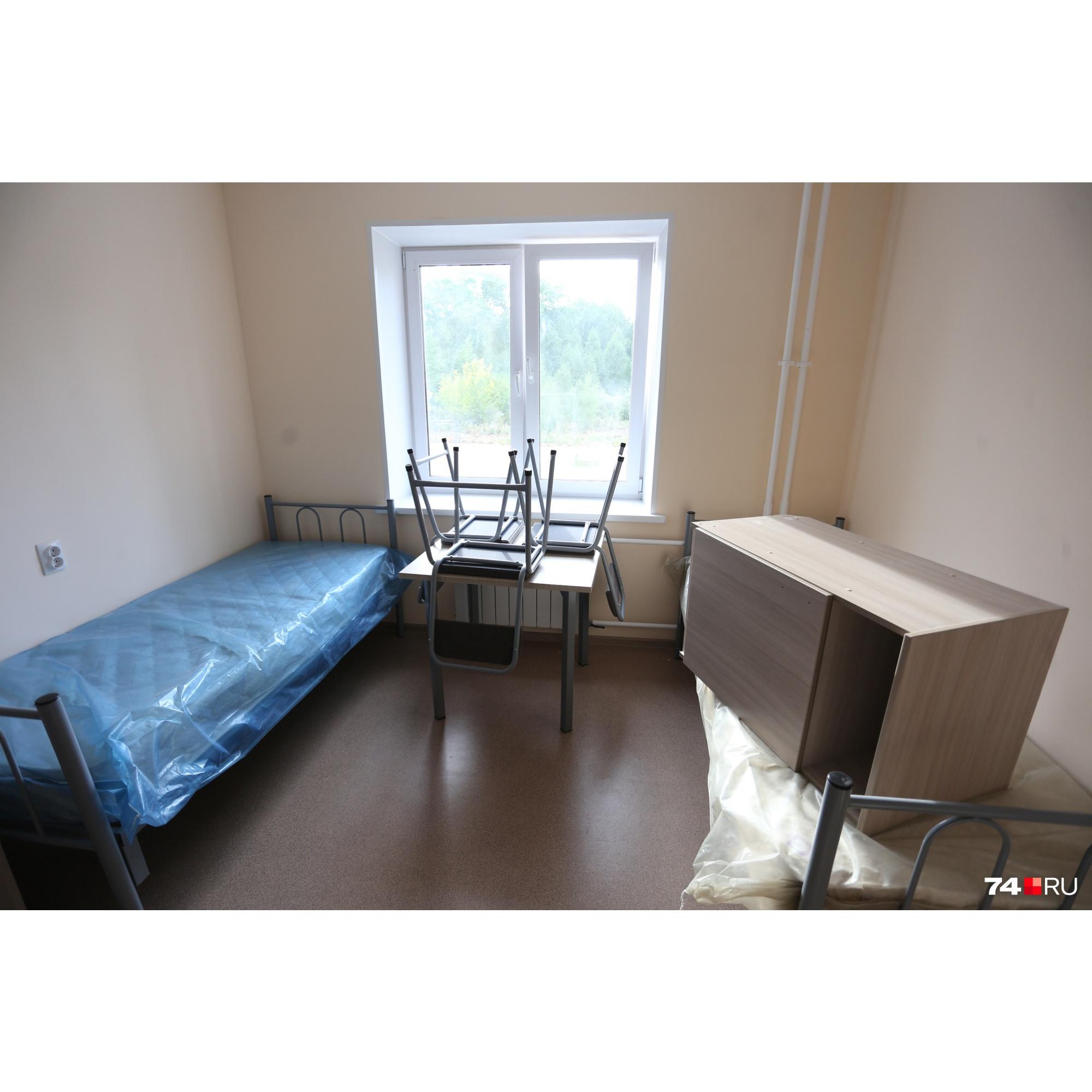 В каждой комнате будут жить по три человека
