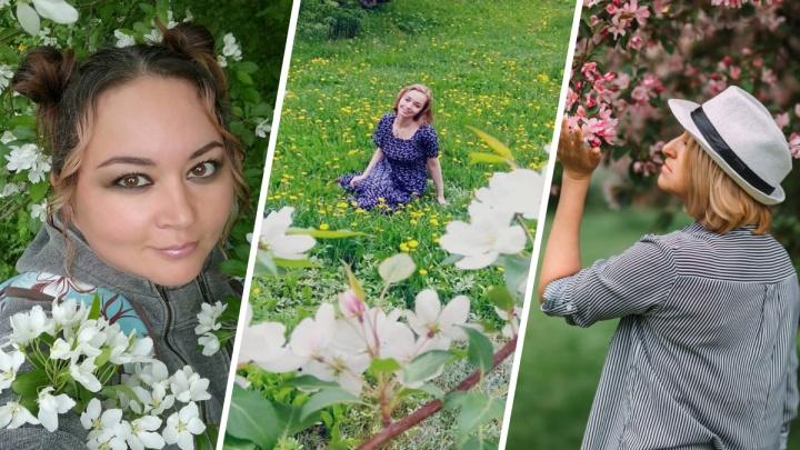 Самая весенняя подборка: фотографии читательниц E1.RU среди цветущих яблонь и сирени