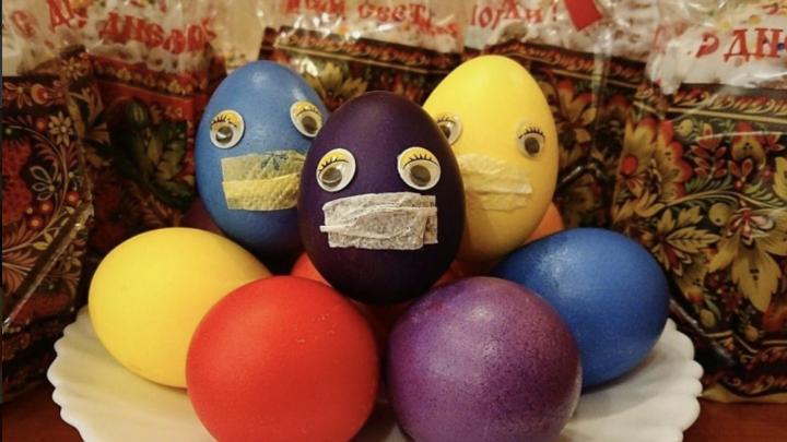 Пасхальные яйца в масках и ломящийся от куличей стол: что новосибирцы испекли на Пасху (лучшие фото)