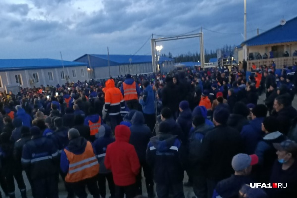 На митинг вышли сотни протестующих