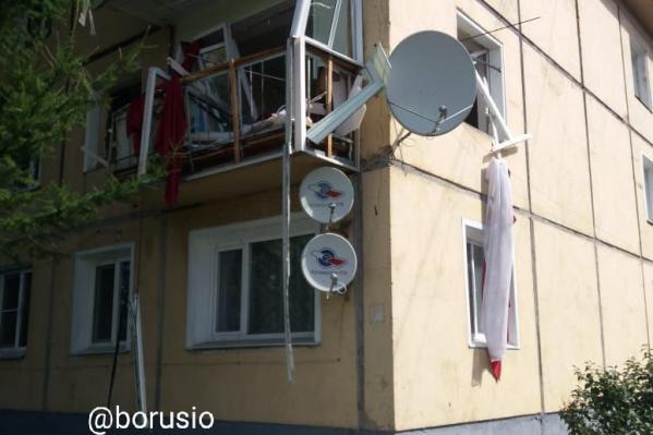 Взрыв произошел в трехэтажном доме