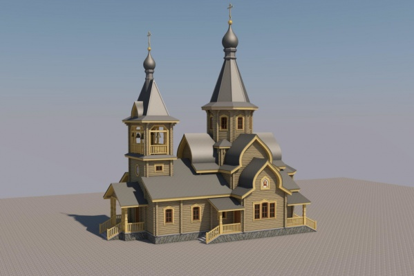 Сейчас есть только предварительный проект строительства храма, который размещен на сайте прихода. Работа над окончательным вариантом продолжается