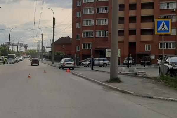 Мальчика сбили в зоне нерегулируемого пешеходного перехода