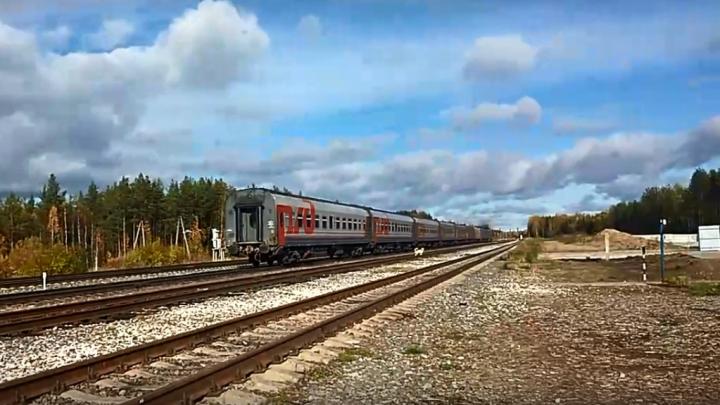 «Со скоростью бешеной пролетел»: активисты сняли на видео, как поезд идёт мимо станции Шиес