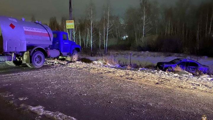 Появилось видео смертельной аварии с газовозом на Доковской