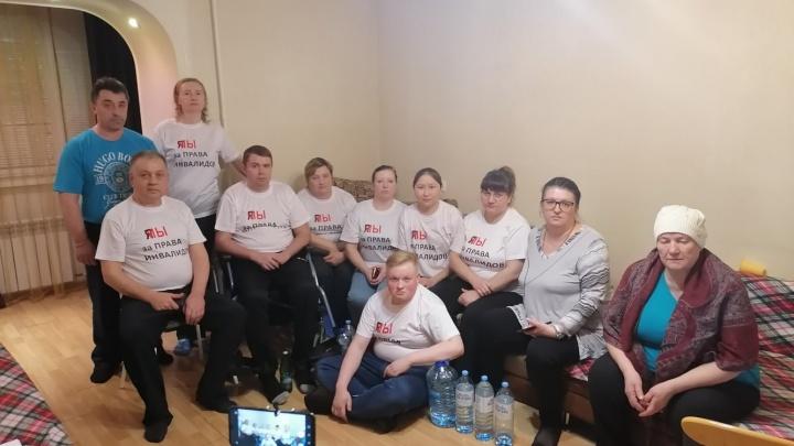 Тюменские инвалиды, бастующие из-за бездействия властей, прекратили голодовку
