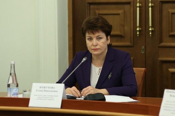 Елена Кожухова провела брифинг у здания больницы