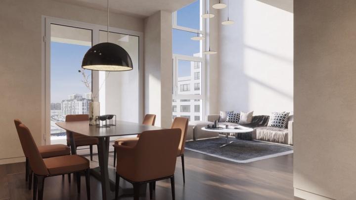 В «Европейском Береге» построят новый дом с двухэтажными квартирами и 6-метровыми окнами