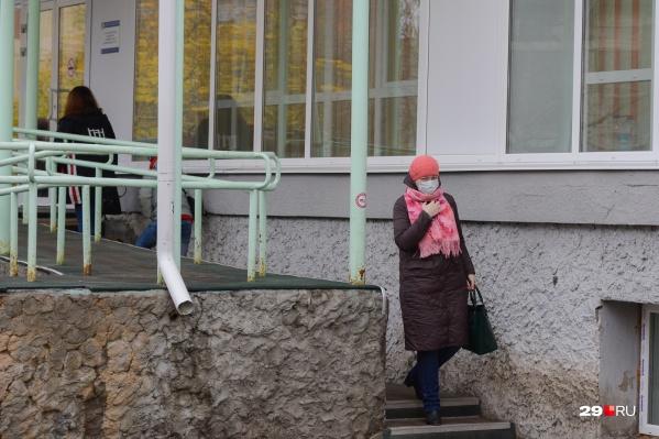 В Архангельске за последние сутки зарегистрировали 95 заболевших COVID-19