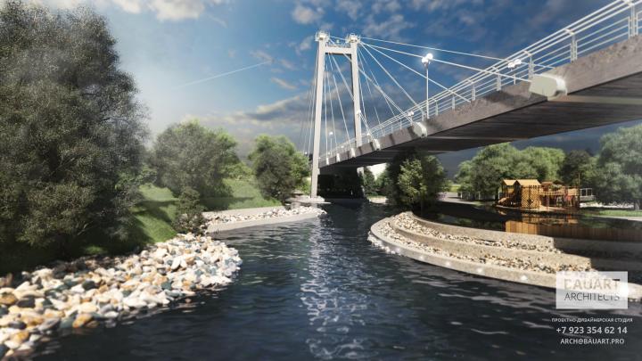 Архитектор предложил сделать насыпи под вантовым мостом. Смотрим проект «утиных островов»