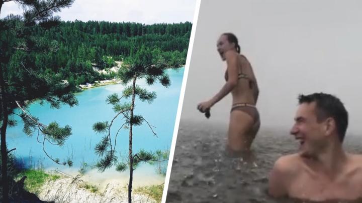Попали под град в озере и плавали под Челябинском: как екатеринбуржцы провели эти жаркие выходные