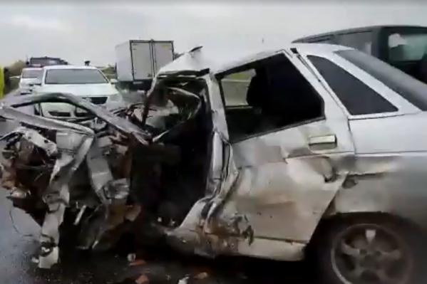 Водитель десятки скончался от сильного удара