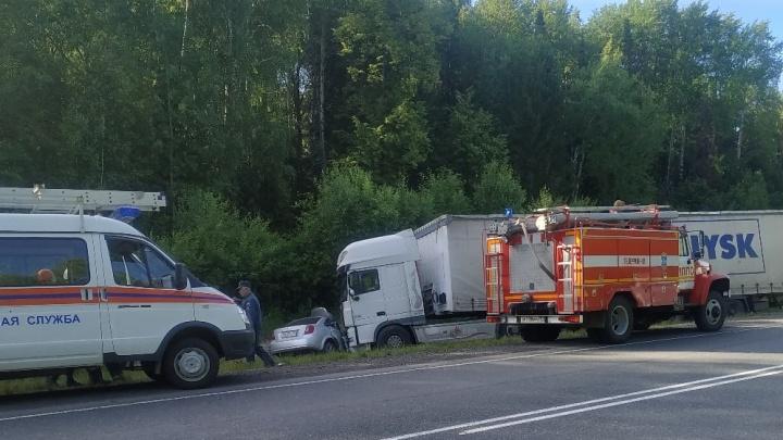 Три человека погибли в ДТП с фурой на тюменской трассе