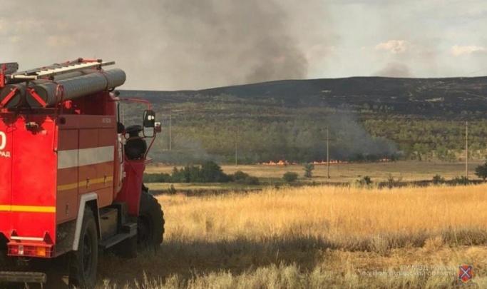 В Волгоградской области нашли виновника крупного степного пожара