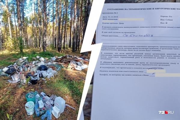 Бумаги лежали в куче со строительным мусором