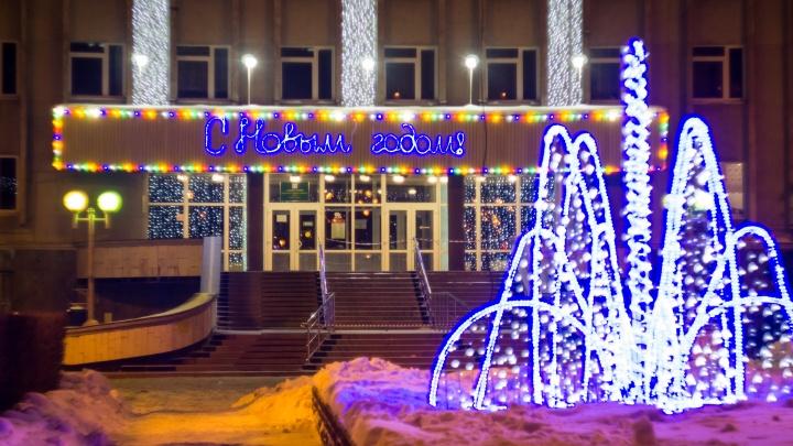 Новогоднюю иллюминацию в Омске включат к 25 декабря