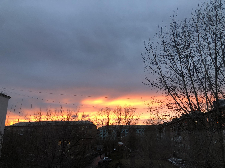 Так выглядело небо над городом спустя пару часов после дождя