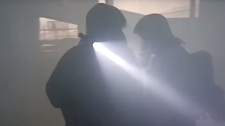 Видео дня. Спасатели ликвидировали «пожар» на стадионе «Нижний Новгород»
