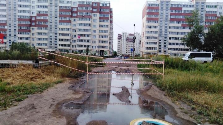 В Омске осудят предпринимателя, из-за которого на Завертяева в яму с кипятком провалился мальчик