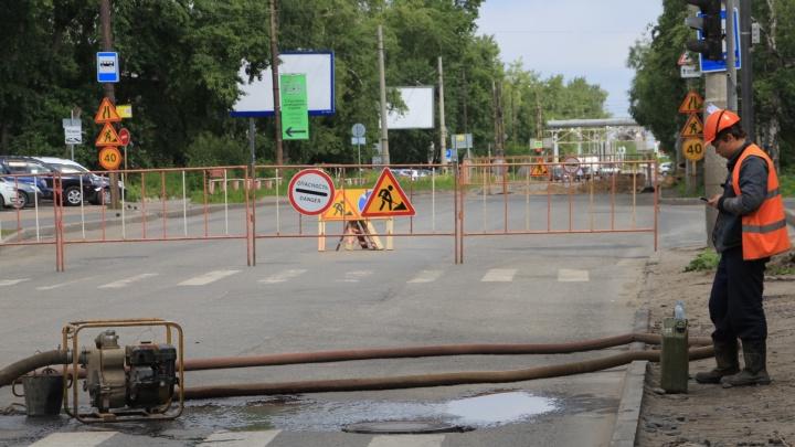 Три автобуса в Архангельске изменили маршрут движения из-за ремонта теплотрассы на Обводном канале